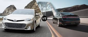 toyota avalon 2015 toyota avalon vs 2015 lincoln mkz