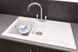 Ceramic Kitchen Sinks Reginox Rl301cw 1 5 Bowl White Ceramic Fully Reversible Kitchen