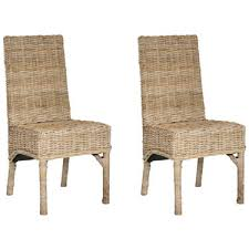 Wicker High Back Dining Chair High Back Rattan Dining Chairs