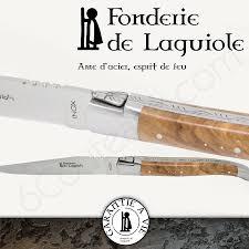 Laguiole Kitchen Knives Fonderie De Laguiole Laguiole Steak Knives Olive Handles Box Of 6