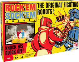 amazon com rock u0027em sock u0027em robots game toys u0026 games