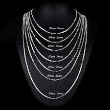 chain necklace sizes images Buy 7 sizes available real pure 925 sterling jpg
