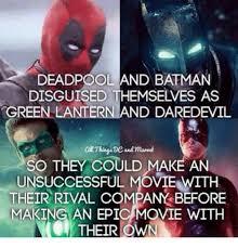 Batman Green Lantern Meme - deadpool and batman disguised themselves as green lantern and