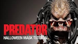 predator halloween mask tutorial youtube