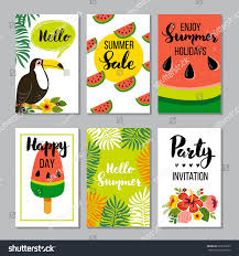 summer card set elements quotes calligraphy stock vector 629189222