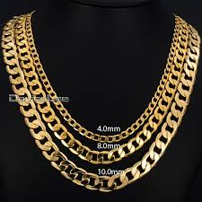 wholesale jewelry necklace chains images Mens necklace gold filled curb cuban link gold chain necklaces for jpg