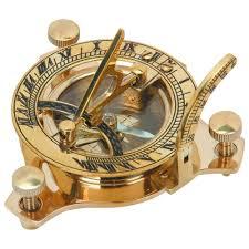 Nautical Desk Accessories by Brass Sundial Compass Vintage Nautical Retro Steampunk Wooden Teak