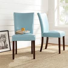 Upholstered Dining Chair Set Tribecca Home Estonia Sky Blue Upholstered Dining Chairs Set Of 2