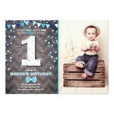 boy first birthday invitations u0026 announcements zazzle
