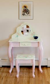 Corner Vanity Table Classic Corner Vanity Table With Rustic Mirror Design And Cream