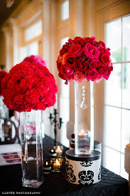 Wedding Centerpieces With Crystals by Carnation And Rose Spheres On Tall Vases With A Chic Touch