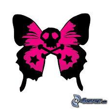 skull butterfly clipart