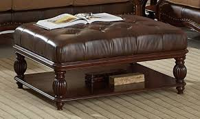 Coffee Table Leather Ottoman Leather Ottoman Coffee Table With Large Square Coffee Table With