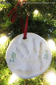 baby keepsake ornaments baby or toddler handprint or footprint keepsake ornament