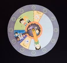 horloge a personnaliser l u0027enfant et le temps horloge de la journée babybaboo