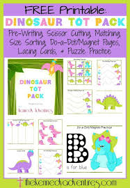 free dinosaur printable pack for toddlers and preschoolers