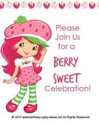 printable birthday invitations strawberry shortcake strawberry shortcake birthday clipart clipartxtras