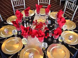 Black And Red Party Decorations Black Red And Gold Decorations House Design Ideas