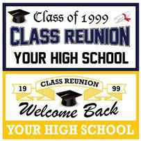high school reunion banners colorful happy birthday banner 3 x 6 color