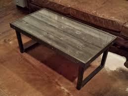 reclaimed wood and metal coffee table diy reclaimed wood coffee