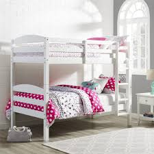 White Bunk Bed Frame Dorel Living Better Homes U0026 Gardens Leighton Twin Over Twin Wood