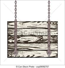 wooden boards wooden board with chain vector