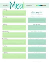 printable menu planning ideas form printable menu free