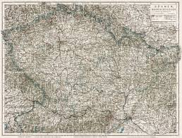 bohemia map map of bohemia moravia and silesia in 1910 buy vintage map