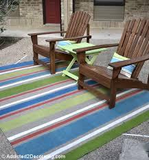 Outdoor Floor Rugs Copy Cat Challenge Painted Outdoor Floor Cloth An