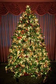 decorated lighted christmas tree stock photography image 14885352