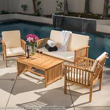 Wooden Outdoor Patio Furniture by Wood Outdoor Furniture Ebay