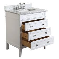 eleanor 30 inch vanity carrara white u2013 kitchenbathcollection