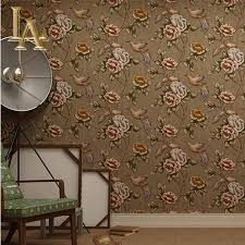 online get cheap wall murals rustic wallpaper aliexpress com american vintage rustic bird floral 3d wallpaper for walls mural wall paper rolls for bedroom living