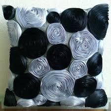 theme black rose amazon com handmade black throw pillows cover ribbon rose flowers