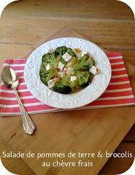 cuisiner le brocolis frais salade de pommes de terre et brocolis au chèvre frais
