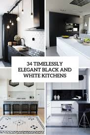 Kitchen Cabinets Black And White 34 Timelessly Elegant Black And White Kitchens Digsdigs