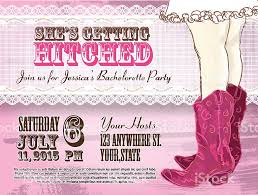 elegant cowgirl or country western bachelorette party invitation