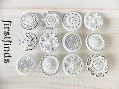Shabby Chic Drawer Pulls by 6 Blue Ceramic India Silver Furniture Drawer Pulls Handles Knobs