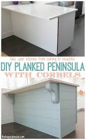 kitchen island peninsula a little more kitchen drama diy planked peninsula with corbels