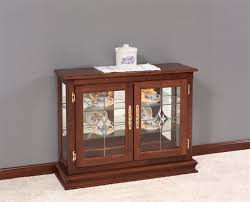 small cabinet with glass doors small curio cabinet white floor living room with espresso glass