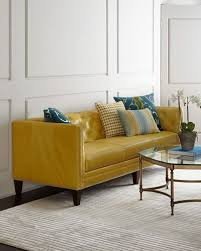 the 25 best yellow leather sofas ideas on pinterest masculine