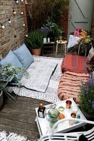 Outdoor Balcony Rugs A Cozy Balcony With Lit Led Light Chains A Canopy Lanterns With