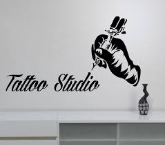 wall decals stickers home decor home furniture diy tattoo studio logo wall sticker vinyl window sign decal tattoo art room decor t5
