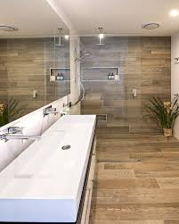 tiled bathroom ideas wood tile bathroom spurinteractive