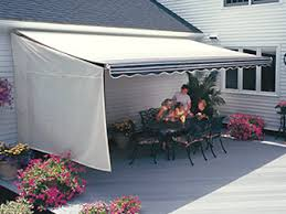 Where Are Sunsetter Awnings Made Retractable Awnings U003e Sunsetter Side Weatherbreaker Panel