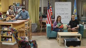 the big bang theory apartment amy and sheldon take fun with flags on location on the big bang