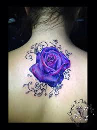 best 25 purple rose tattoos ideas on pinterest purple flower