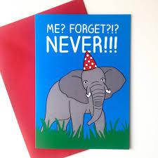 elephant belated birthday card by hello dodo notonthehighstreet com