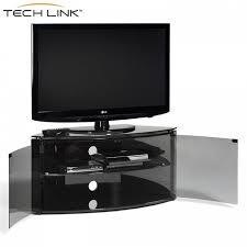 black corner tv cabinet with glass doors techlink b6b bench piano gloss black with smoked glass corner tv
