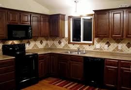 kitchen ideas with dark cabinets natural stone l shaped outdoor